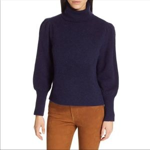 Frame Denim Navy Turtleneck Sweater NWT Large